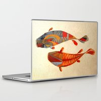 paris Laptop & iPad Skins featuring Kolors Koi by Fernando Vieira