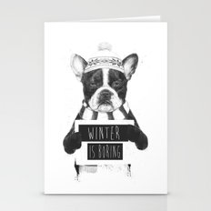 Winter Is Boring Stationery Cards