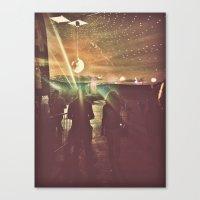 disco sunset Canvas Print