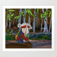 Doodlage 07 - Koala Dreaming Art Print