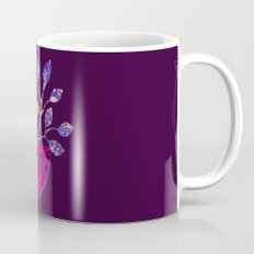 pot and branch on purple Mug
