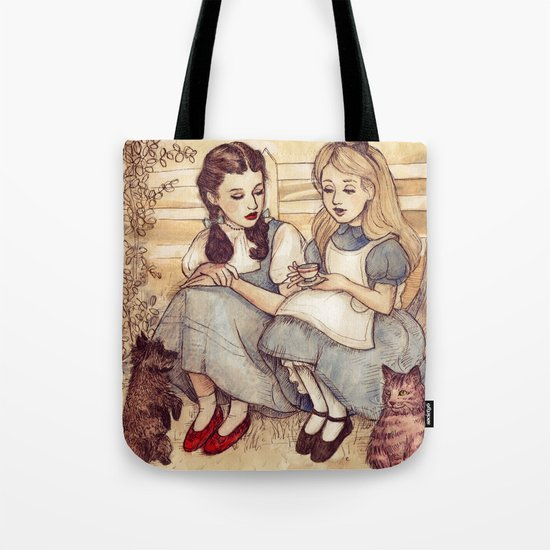 Dorothy and Alice Tote Bag