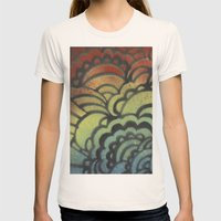 Drawing Meditation Stencil 1 - Print 9 Womens Fitted Tee Natural SMALL