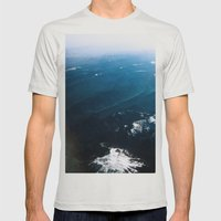 In Waves Mens Fitted Tee Silver SMALL