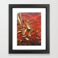 Deep of Red Framed Art Print