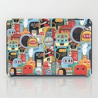 Two monkeys in town iPad Case