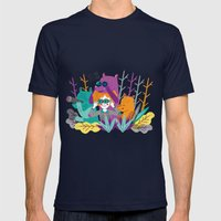 Spring Is Coming! Mens Fitted Tee Navy SMALL