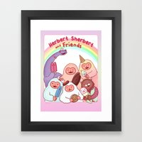 Herbert Sherbert and Friends Framed Art Print