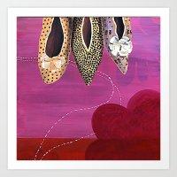 Dancing Shoes Art Print