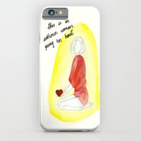 iPhone & iPod Case featuring Unknown woman giving her heart by Villaraco