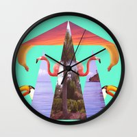 Off Shore Firework Show Wall Clock