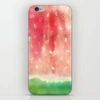 Watermelon drops iPhone & iPod Skin