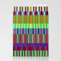Crazy lines Stationery Cards