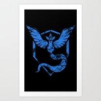 Team Mystic Grunge Art Print