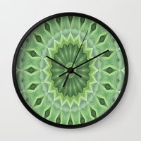Green Beauty Wall Clock
