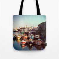 Boats resting in the Harbour Tote Bag