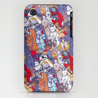 Space Toons In Color iPhone (3g, 3gs) Slim Case