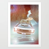 Art Print Daft Punk Flyin Car Art Print