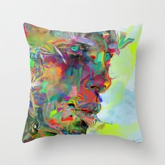 Iris Drops Throw Pillow