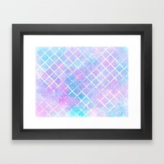 Starry Grid Framed Art Print