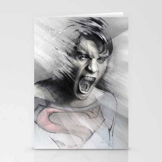 Superheroes SF Stationery Card