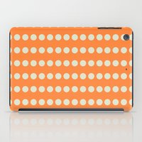 Circular Orange Dots Pattern iPad Case