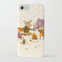 fall iPhone & iPod Cases featuring Critters: Fall Camping by Teagan White