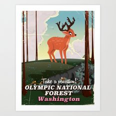 Olympic National Forest … Art Print