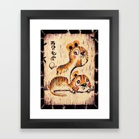 Two Little Tigers  Framed Art Print