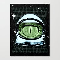 Astro Reptoid Canvas Print