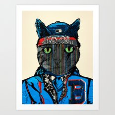 THAI CAT - SCREEN PRINT EDITION  Art Print