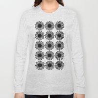 Vintage Flower_Black Long Sleeve T-shirt