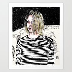 I'm not like them, but i can pretend. -  Kurt c Art Print