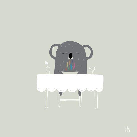 The Happy Dinner Art Print