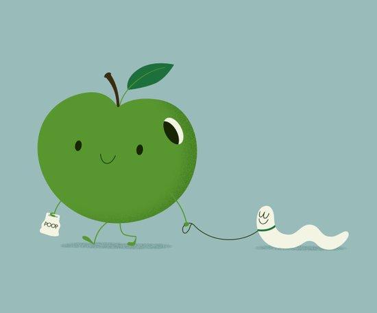 Apple's pet Art Print