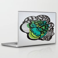 brain Laptop & iPad Skins featuring Brain by MelisaCole