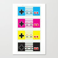CMYK Retro Gamer  Canvas Print