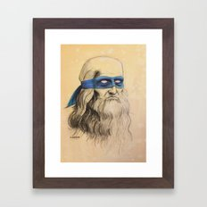 Leo TMNT Framed Art Print