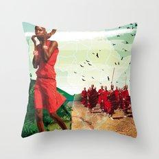 Poster Afryka! Throw Pillow