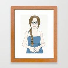 Eye Glassses Framed Art Print