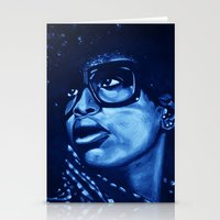 Badu?!-blue Stationery Cards
