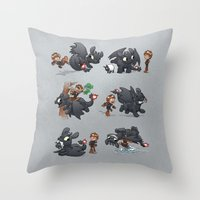 How Not to Train Your Dragon Throw Pillow