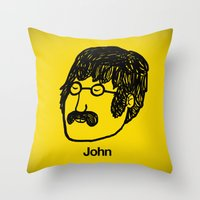 John. Throw Pillow