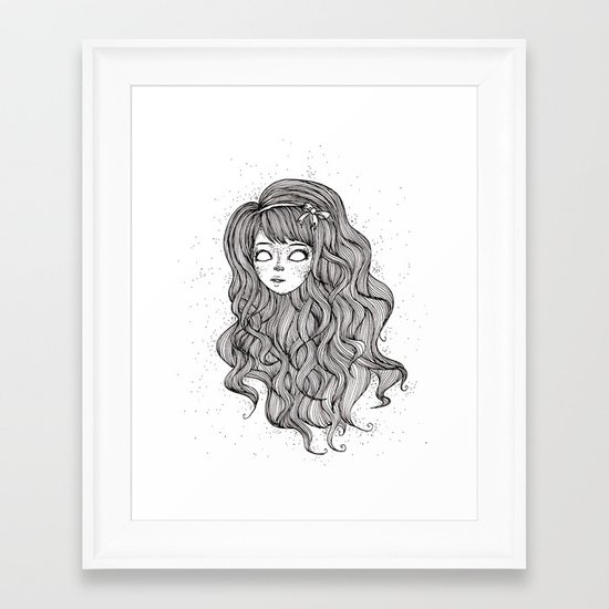 Curly-wurly Framed Art Print
