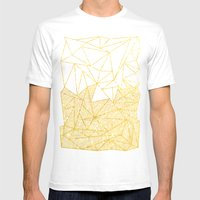 Bullion Rays (gold) Mens Fitted Tee White SMALL
