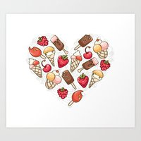 In love with icecream Art Print