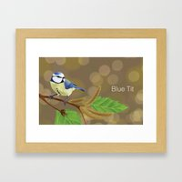 Blue Tit Framed Art Print