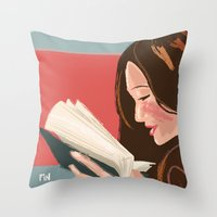 Favorite Book Throw Pillow