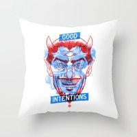 Simm (r/b) Throw Pillow