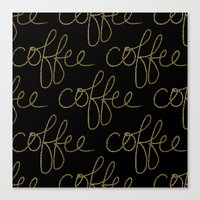 Coffee Dots Canvas Print